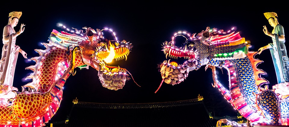 Chine dragon festival