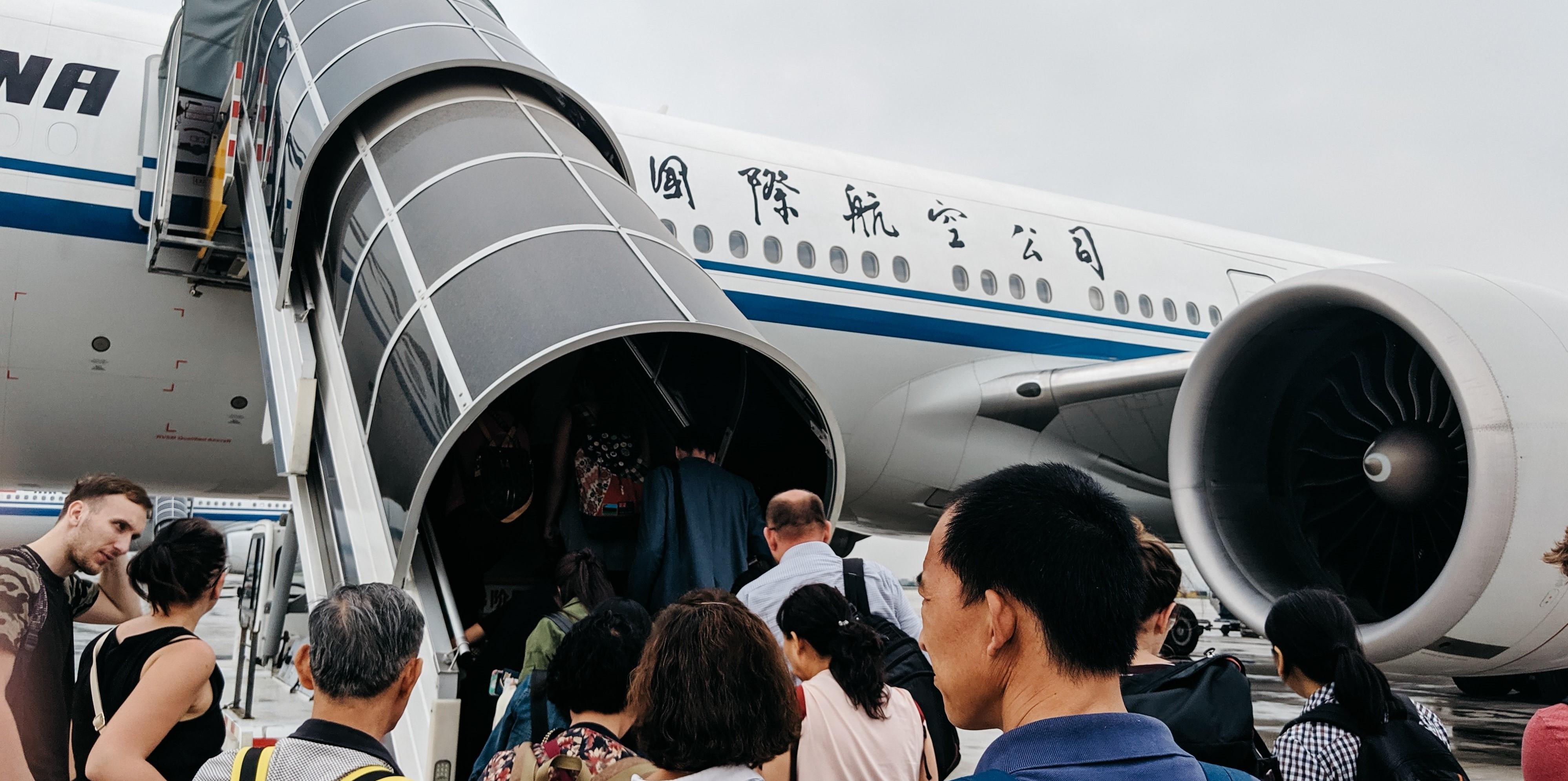 Vol sur la compagnie aérienne Air China